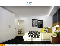 hope-residences-condo-for-sale-in-sm-city-,trece-martires-city-dressed-up-bedroom2