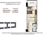 1 Bedroom - Pool or Garden Unit Floor Plan