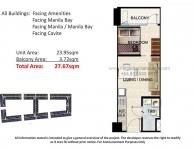 1 Bedroom with Balcony Unit Floor Plan