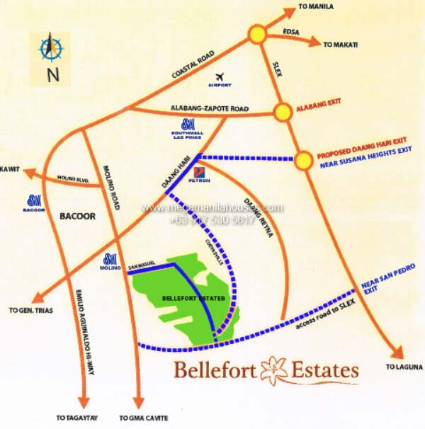 Vicinity Map: How to Get To Bellefort Estates