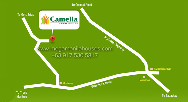 Vicinity Map: How to Get To Camella Vita