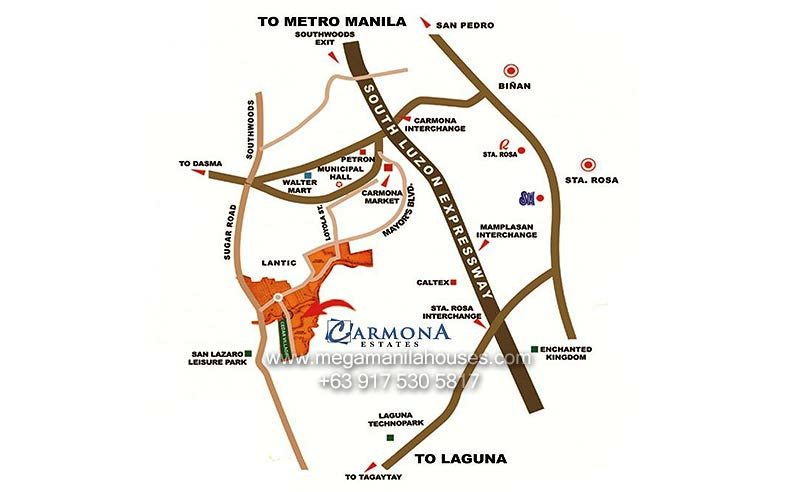 Vicinity Map: How to Get To Carmona Estates
