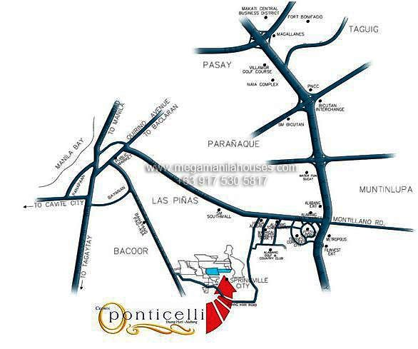 Vicinity Map: How to Get To Ponticelli