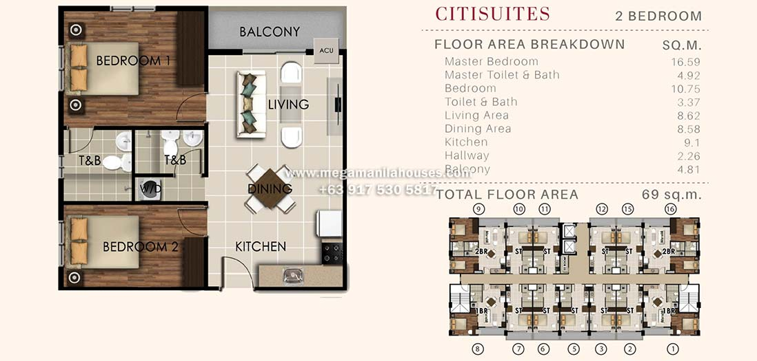 Valenza Mansions Citisuites 2 Bedroom Unit By Crownasia Condo Homes For Sale In Laguna Philippines Floor Plan House And Lot Luxury Homes Condos Lots For Sale In Cavite