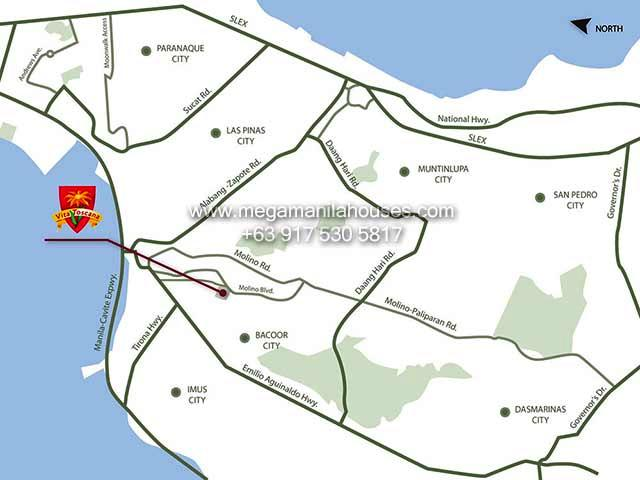 Vicinity Map: How to Get To Vita Toscana By Crown Asia – Luxury Homes For Sale In Cavite
