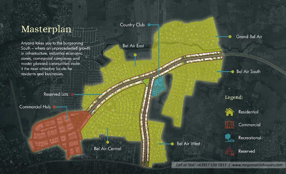 Site Development Map of Anyana Bel-Air Tanza