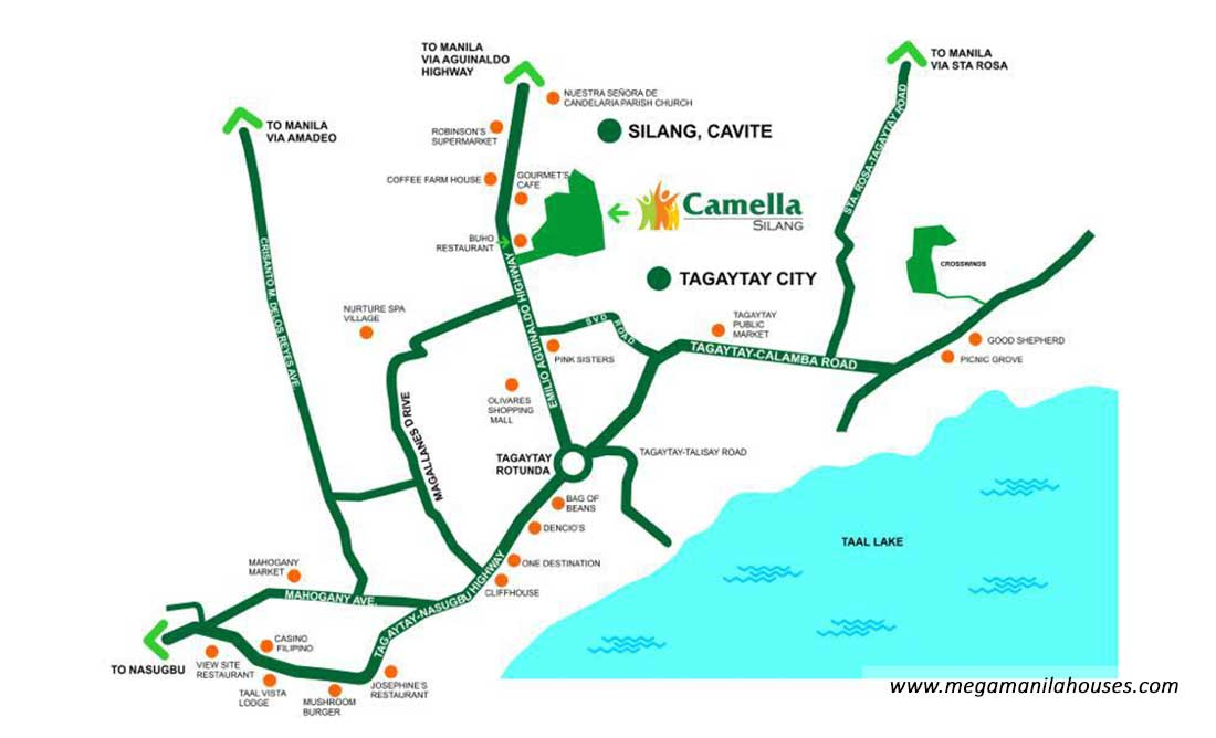 Vicinity Map: How to Get To Camella Alta Silang