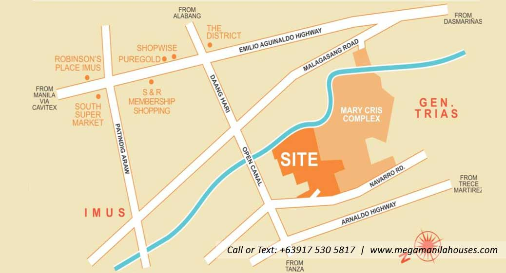 Vicinity Map: How to Get To Elliston Place