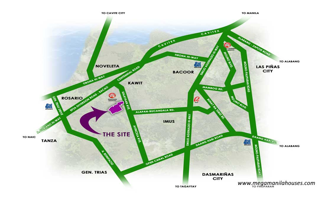 Vicinity Map: How to Get To Monte Royale Residences