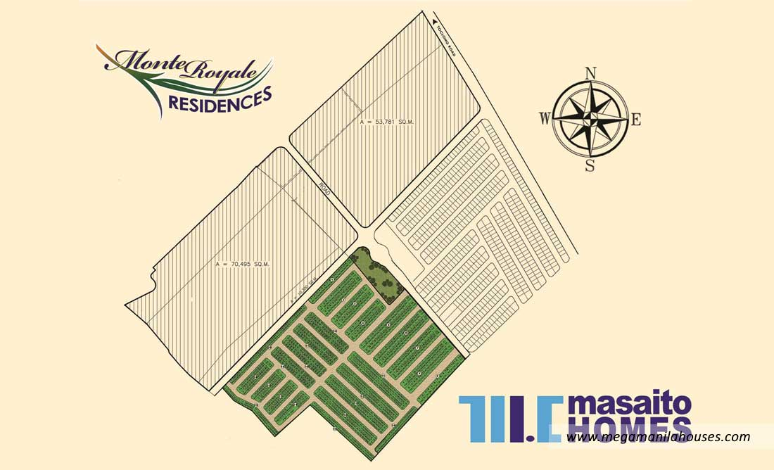Site Development Map of Monte Royale Residences