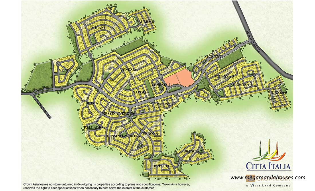 Site Development Map of Citta Italia